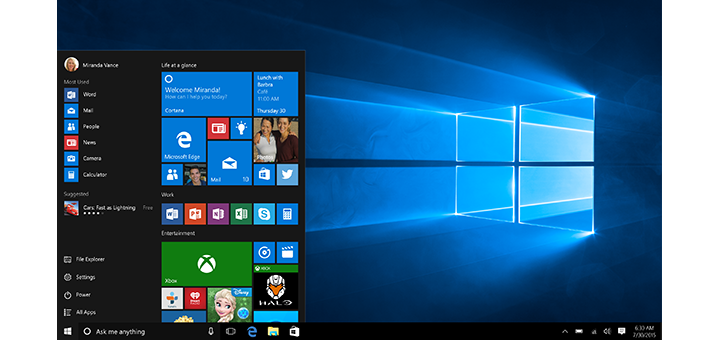 Windows 10 Microsoft Featured